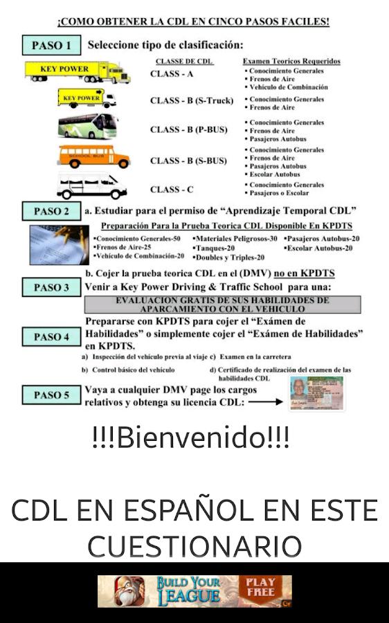 Examen de licencia en espanol - Con la contrasena puedo sacar el pase ...