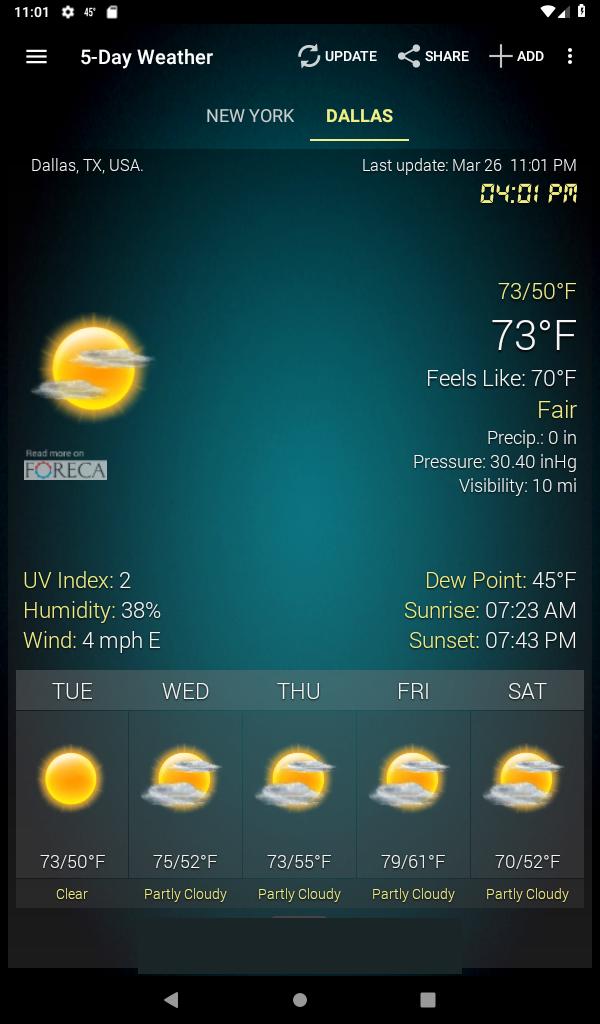 Weather & Clock Widget for Android Ad Free Screenshot 18