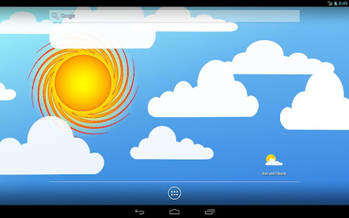 Sun and Clouds Free Live Wallpaper 6