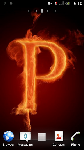 Letter P on fire Live WP