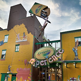 Crayola Factory by Michael Lunn - Artistic Objects Signs