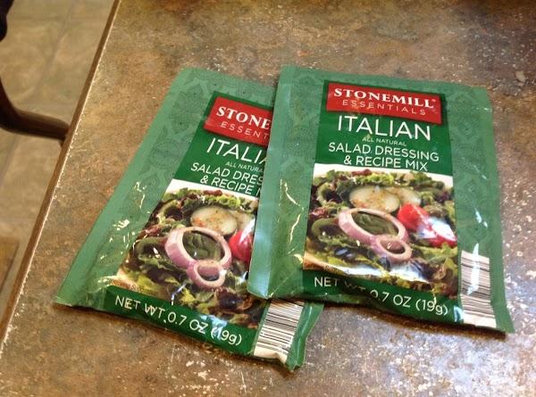 Add both of the dry Italian seasoning packets.