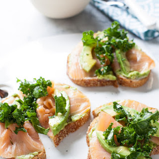 Avocado Toast with Smoked Salmon and Kale