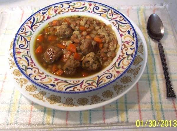 Meat Ball Baked Bean Soup W/carrots & Stars Recipe