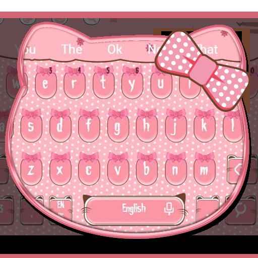 Cute Cat Bow Keyboard Theme