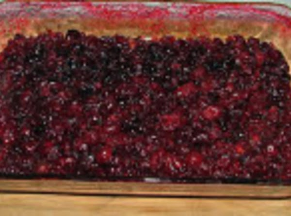 Cover baking dish with foil and bake cranberry mixture in 325 degree oven for...