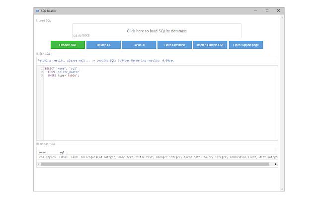 SQLite Reader