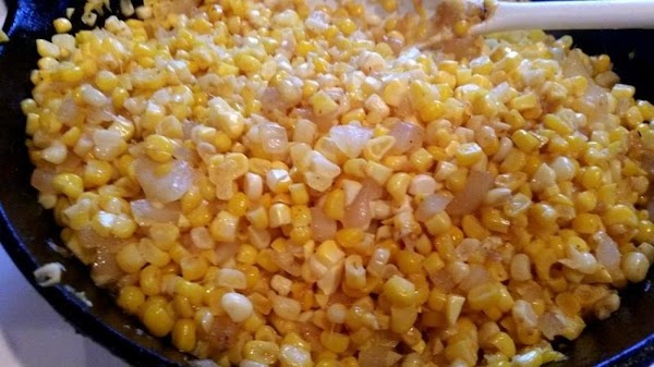 Add the corn saute, stirring often for about 7 minutes or until tender. Make...