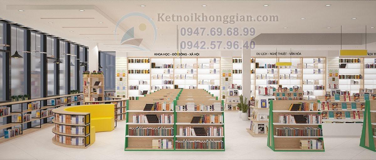thiết kế nhà sách đơn giản