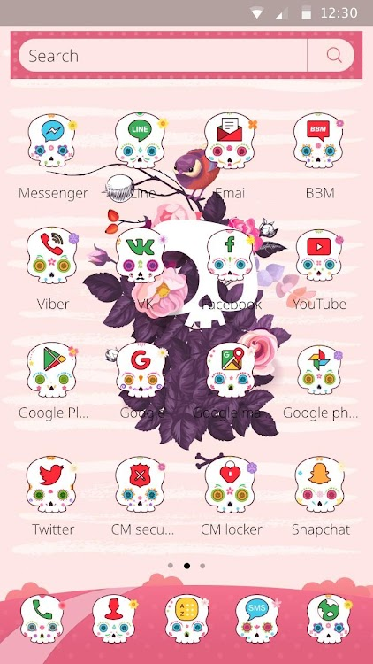 skull theme & cute rose skull wallpaper