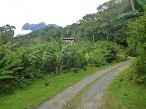 Photo: Cestička k domovu a Mount Kinabalu vykukující v pozadí