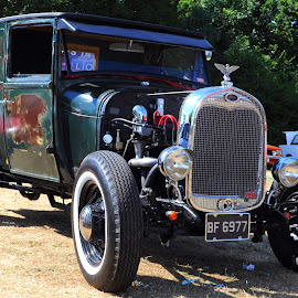 Model A Pickup by DJ Cockburn - Transportation Automobiles ( england, motor, east barnet festival, london, britain, pickup truck, truck, transport, barnet, ford model a, vehicle, transportation, automobile, driving, oak hill park, bf 6977, classic, car, uk, vintage, cars in the park, antique,  )