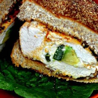 Spicy Grilled Stuffed Chicken Breast Sandwich.