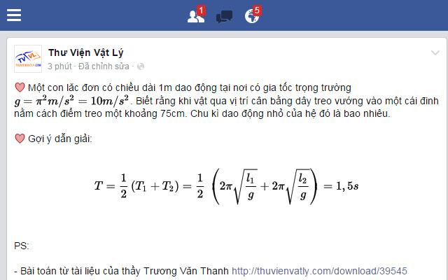Công thức toán LaTeX cho Comment FB