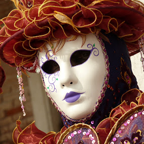 Carnival Mask by Stephen Gruber - People Musicians & Entertainers ( carnival, venice, mask, italy )