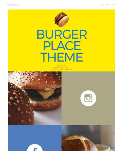 Build a Burger place Website