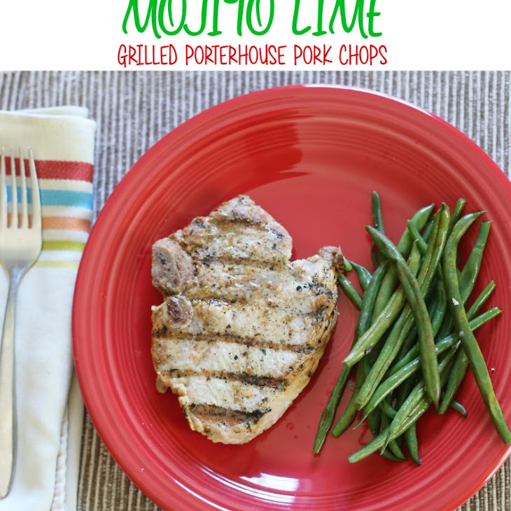 Mojito Lime Grilled Porterhouse Pork Chops