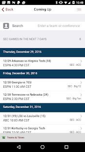 Teams & Times Sports Schedules- screenshot thumbnail