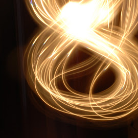 Infinity Light by Micah Lopez - Abstract Light Painting ( infinity, night photo, long exposure, flashlight, white light )