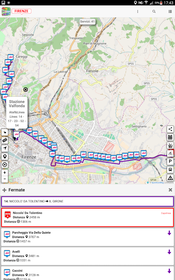 Firenze dove, cosa. Km4City- screenshot