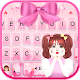 Pretty Bow Girl Keyboard Theme APK