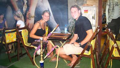 Photo: Playing backgammon and smoking fruity nargile pipe