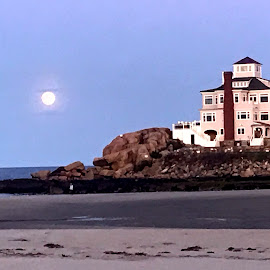 Full Moon Rising Over Goid Harbor by Donna Silva - Instagram & Mobile iPhone