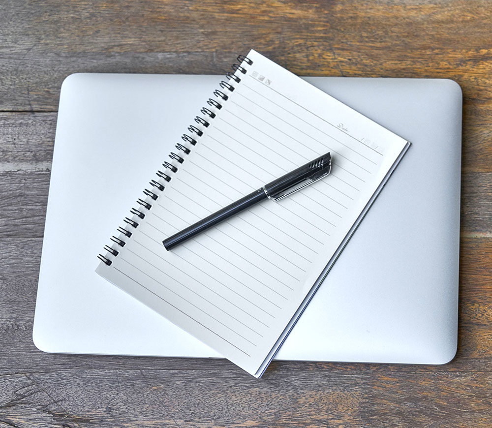 Notepad & Computer