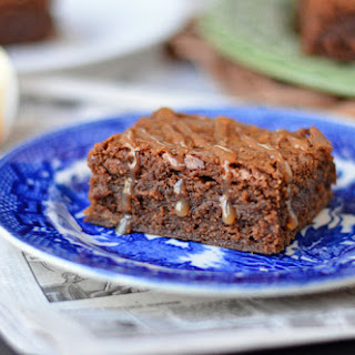 Brown Butter Whiskey Caramel Brownies