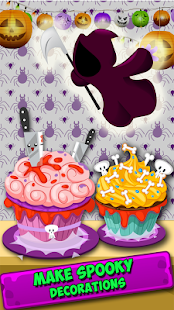 Cupcake-Halloween Cooking game - náhled