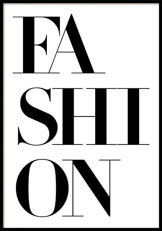FASHION TEXT, POSTER