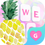 Pineapple Fruit Keyboard Theme for Girls icon