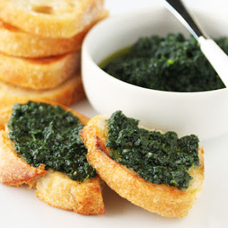 Crostini with Rustic Kale Pesto