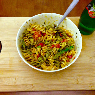 Cajun Pasta with Asparagus and Bell Peppers