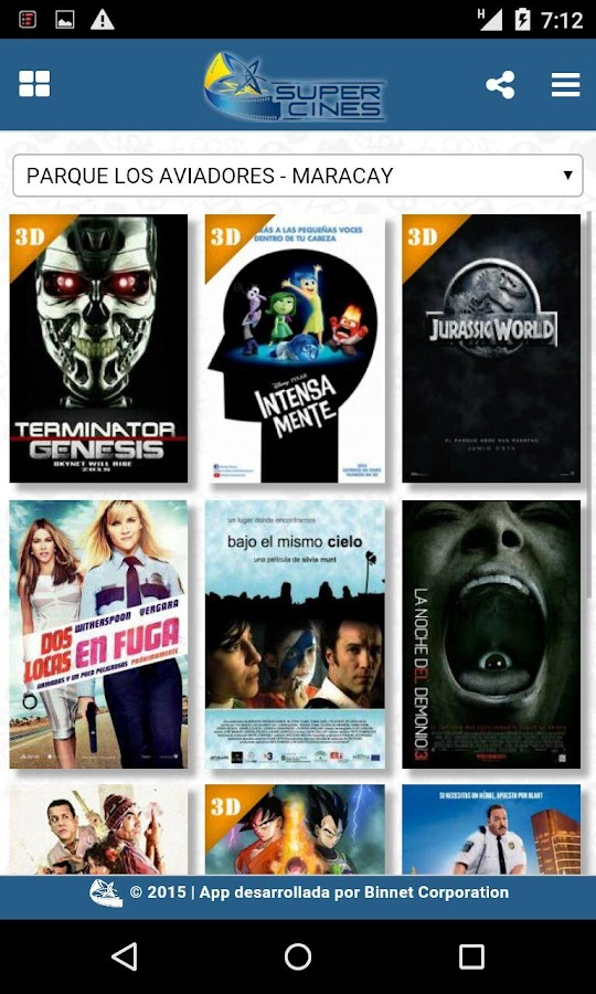 SuperCines Movil- screenshot