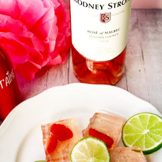 Rosé Strawberry Lime Jello Shots.