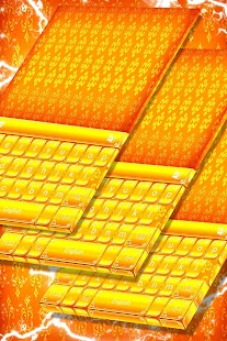 Gold Luxury Keyboard Theme - náhled