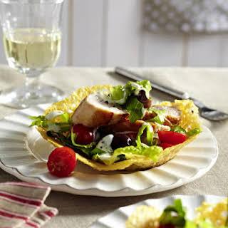Turkey Salad in Parmesan Bowls.