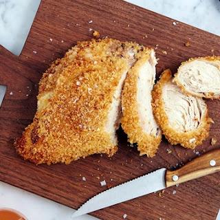 Garlic-Breaded Roast Chicken Breast.