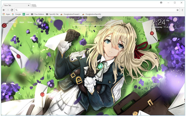 violet evergarden hd wallpapers new tab free addons