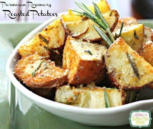 "Parmesan Rosemary Roasted Potatoes ""My family LOVES these potatoes! Thanks for sharing..."