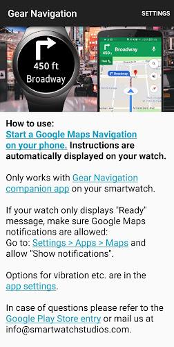 Gear Navigation Google Maps Navi On Samsung Watch On Google Play