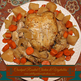 Crockpot Roasted Chicken And Vegetables.