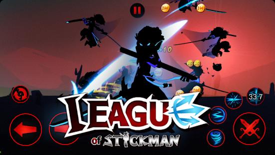 League of Stickman 2018- Ninja Arena PVP google play ile ilgili görsel sonucu