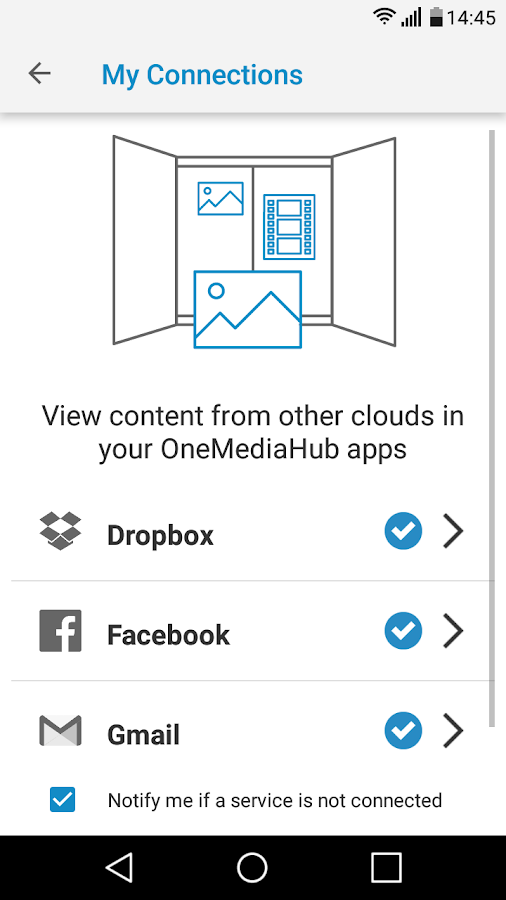OneMediaHub- screenshot