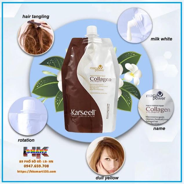 Dầu hấp tóc Collagen Karseell Maca