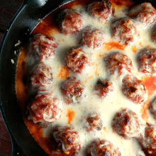 Baked Meatballs with Mozzarella.