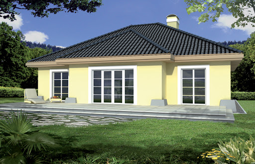 projekt Mila IV energo+ wersja A z pojedynczym garażem