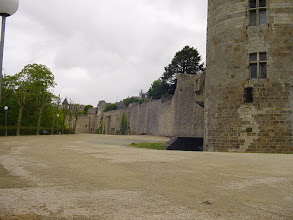 Photo: The view along some of the remaining fortifications.