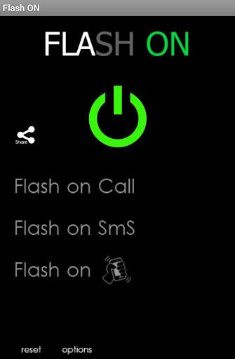Flash ON Shake